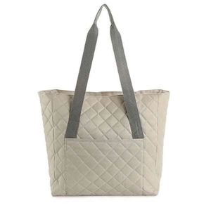 DSW Exclusive Quilted Tote Gray